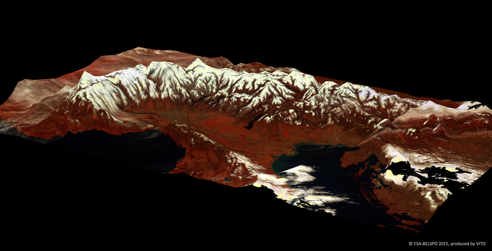 The Alps in 3D